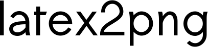 latex2png - convert latex equations to images